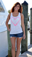 Neon Pink Heart Hook Tank Top