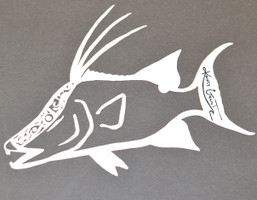 Hogfish Small Mens Decal also in MINT COLOR