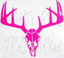 Deer Hunting Neon Pink skull Decal