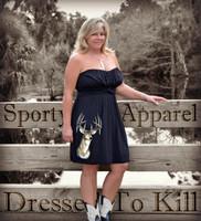 Stylish women's hunting black dress