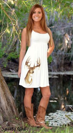 Girl White Sundress