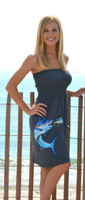 Onesize fits some gray marlin tube top dress