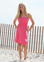 ONESIZE tube top coral anchor dress