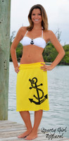Yellow anchor longer length anchor dress