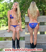 American Flag Country Girl Bikini