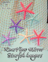 Rearview mirror Glitter Starfish Hangers