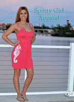White Seahorse with straps ONESIZE dress MORE COLORS AVALIBLE