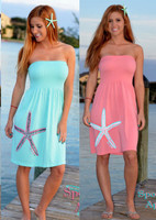 Coral-Aqua starfish onesize dress