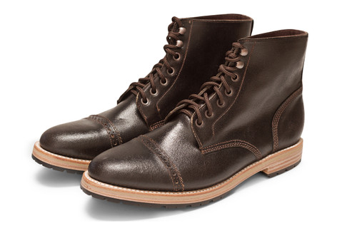 DARK BROWN WAXED FLESH FOOTWEAR