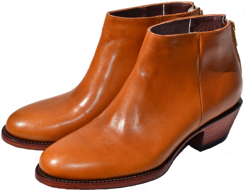 WHISKY CALF ANKLE BOOTS