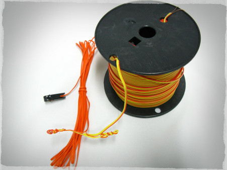 Seminole 22 gauge solid copper duplex wire for extending igniter wires.