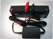 12 volt 2.3ah  sla battery and 12 volt sla smart charger.