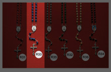 Stone and Wooden Rosaries R33