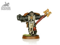 SILVER Chaplain with Crozius & Power Fist