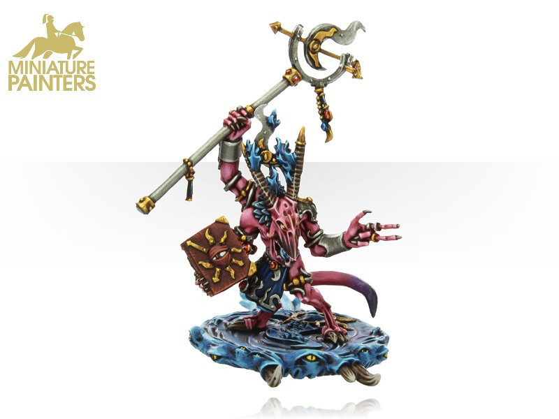 GOLD Herald of Tzeentch on Disc