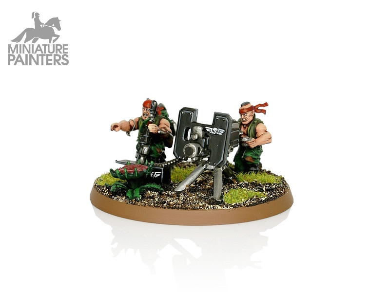 SILVER Catachan Heavy Weapon Team