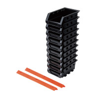 10 Pcs Black Storage Bin Set TTX-320603
