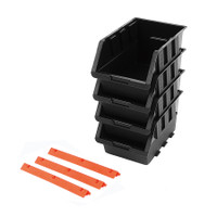 4 Pcs Black Storage Bin Set TTX-320606