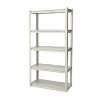 Premium 5-Shelf Rack  72 x 30.5 x 152 cm White TTX-329001