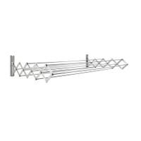 Aluminum 60 cm RuckZuck Wall Clothes Rack- Silver - AWR-331