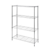 Wire Rack 91 x 35 x 137 cm White 4 Shelf - HTC-WR603