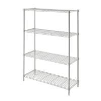 Wire Rack 91 x 35 x 137 cm Chrome 4 Shelf - HTC-WR604
