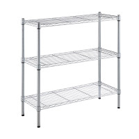 Wire Rack 91 x 35 x 91 cm Stackable 3 Tier Chrome - HTC-WR607