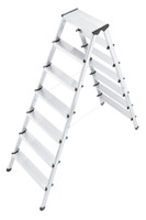 L90 - Aluminium Safety Household Double Sided 2 x 7 Steps Ladder