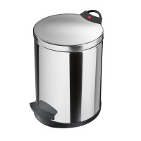 Pedal Waste Bin T2 M - 11 Litre - Stainless Steel - HLO-0513-039