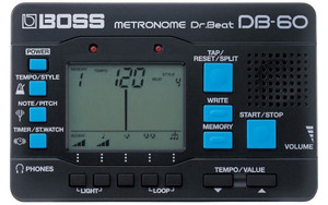 BOSS Dr. Beat DB-60 is a handy size electrical metronome with various functionalities like note mixing.