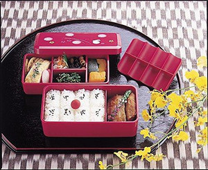 Skater Bento (Lunch) Box Cherry Rabbit LS5