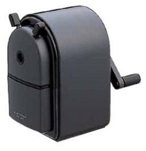 Uni KH-20 Hand Crank Wooden Pencil Sharpener - Black