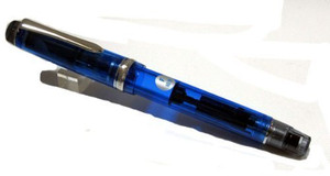 Pilot Fountain Pen Custom Heritage 92, Transparent Blue Body, F-Nib (FKVH-15SRS-TL-F)