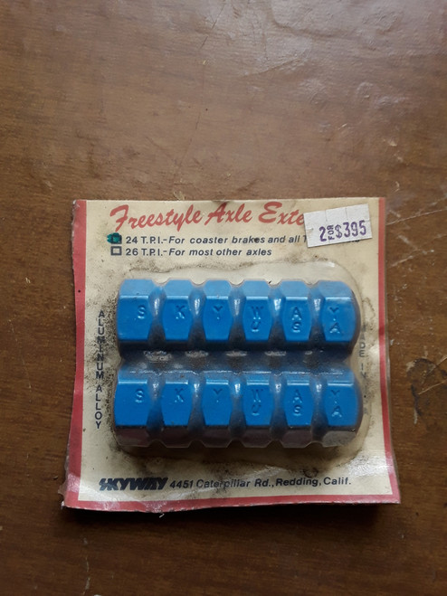 NOS Blue Skyway BMX Axle Pegs