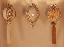 Handmade Ornaments - Special Sets of Three - Save 40%!! – Exquisite Ivory and Gold Set