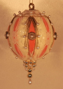 "Handmade Christmas Ornaments ""Very Victorian"" (Peach)"