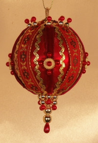 "Handmade Christmas Ornaments ""Richer Red"""