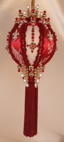 "Gift Boxed Heirloom Ornaments - Ornamentia Line - Sassy Lady Collection - ""Lady Scarlett"""