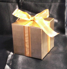 WEDDING FAVOR SAMPLE - Order one sample ornament, in the gift box with the ribbon and the tag