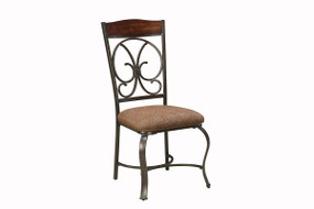 Glambrey Brown Dining Upholstered Side Chair