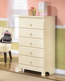 Cottage Retreat Cream Cottage Five Drawer Chest