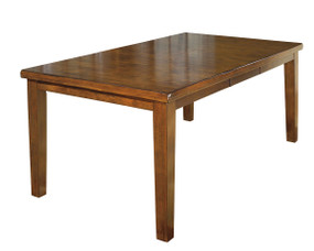 Ralene Medium Brown Rectangular Dining Room Butterfly Extension Table