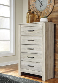 Bellaby Whitewash Five Drawer Chest
