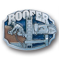 Roofer Pewter and Enamel Belt Buckle
