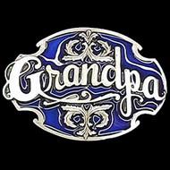 Grandpa Enamel Belt Buckle