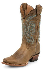 Women's Nocona Brown Square Toe Western Boot
