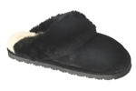 Women's Old Friend Black Sheepskin Slipper