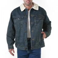 Wrangler Sherpa Lined Rustic Denim Jacket