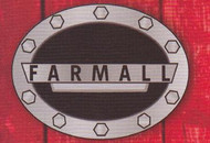 Black Farmall  Oval Belt Buckle