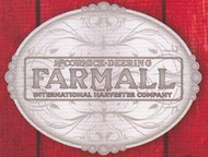 Oval Farmall Scrolled Pewter Belt Buckle